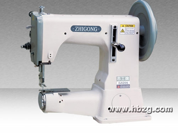 GA205特厚特料极粗线综合送料筒式平缝机
